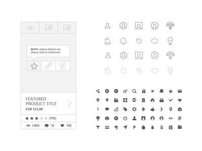 Free 230 Wireframe Icons
