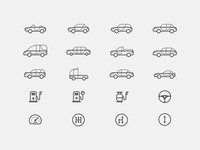 Car Specifications Icons