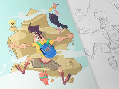 Mount Freelance survivor freelance adventure drawing sketch fun character pen pencil