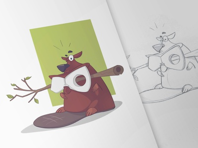 Burnout collection burnout drawing sketch fun character pen pencil beaver