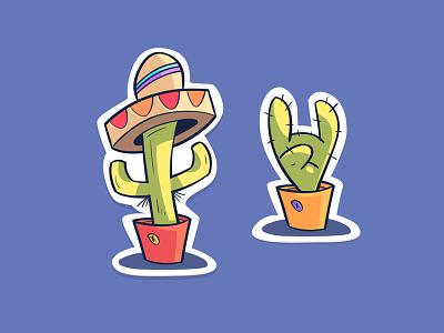 Fun Time stickers fun-time fun cactus
