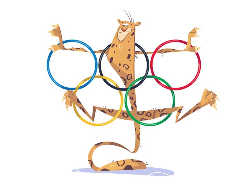 Rio 2016 olympics cartoon logo fun jaguar animal character 2016 olympicgames olympic rio
