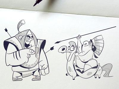 Warriors warriors war indians characters characterdesign nativeamericans battle