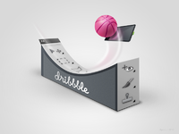 Dribbble surfing large