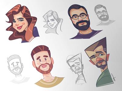 Social Avatars cartoon socialavatar process fun caricature character coloring social avatar gift present