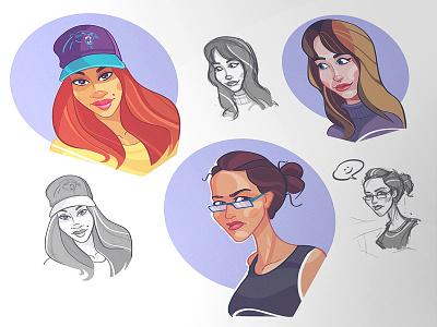 Avatars present gift avatar social coloring character caricature fun process socialavatar cartoon