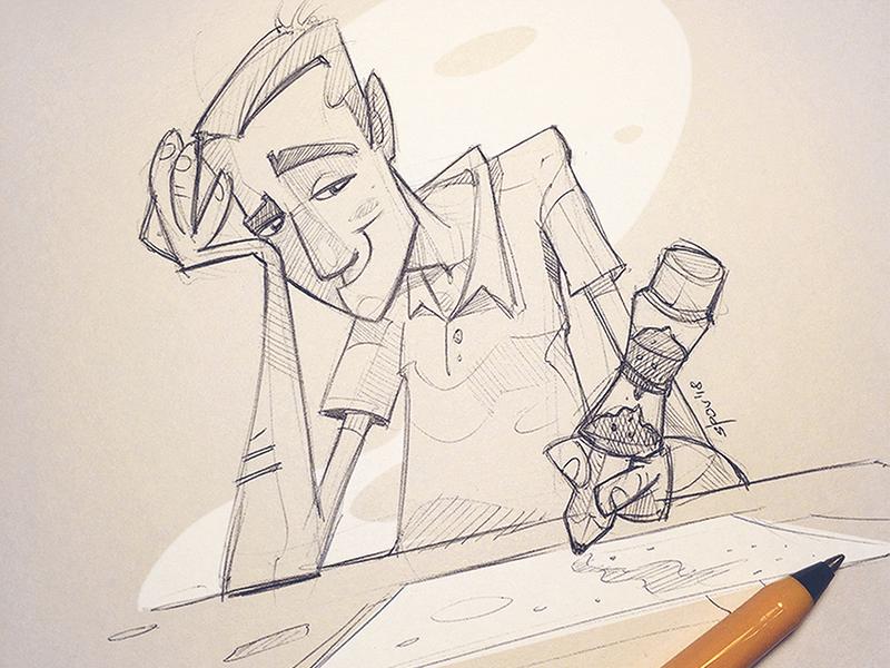 Art Deadline characterdesign pencil spovv drawing sketch fun cartoon character speed deadline art