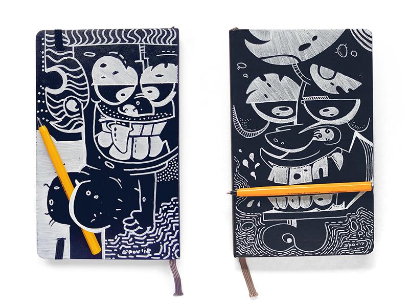 Sketch BackLook vs Sketch BookLook bulgaria sketch sketchbook pen pencil ink paper handmade characterdesign character fun behance