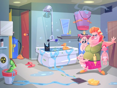 Occupation Mom spovv puzzle cat mom adventure game design process character characterdesign