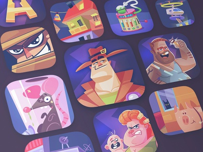 App Icon puzzle game puzzle adventure game appicons appicon app cartoon spovv fun characterdesign character illustration ui