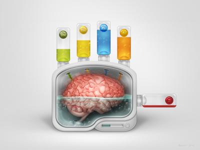 Hand Experience illustration icon photoshop hand experience adobe brain