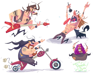 Heavy Metal heavy metal metal spovv process cartoon illustration characterdesign drawing fun character
