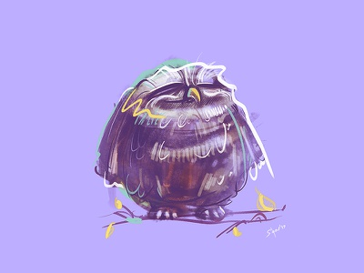 Owl owl coloring spovv process cartoon illustration sketch characterdesign drawing fun character