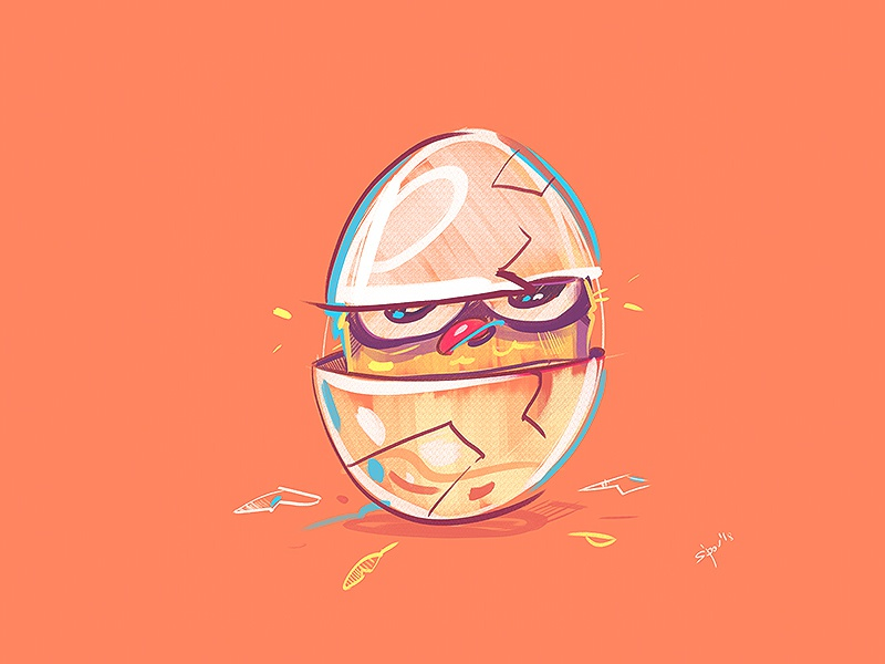 Hello World! chicken egg bird coloring spovv process cartoon illustration sketch characterdesign drawing fun character