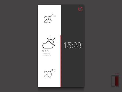 Weather & Time App china ux ui  ux ui interaction design interaction sun clean app clean app animation animation weatherandtime time weather icons weather weather icon weather app app