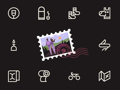 Going Outdoors Icons tourist iconpack spovv illustration freebies free outdoor icons