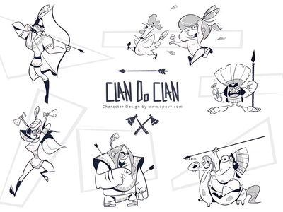 Clan Do Clan battle indians war warriors nativeamericans spovv process cartoon illustration sketch characterdesign drawing fun character