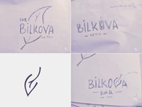 Bilkova Bar - Logo Exploration
