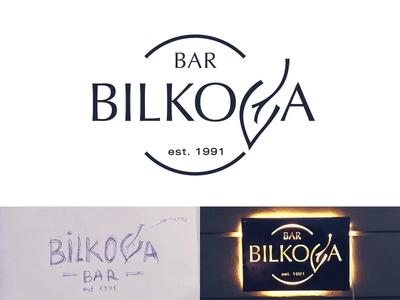 Bar Bilkova Logo process idea logodesign typography design branding typography visual  identity visual bar bilkova spovv logo sketch drawing