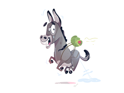 Time To Travel donkey adventure travel coloring cartoon spovv fun drawing characterdesign character