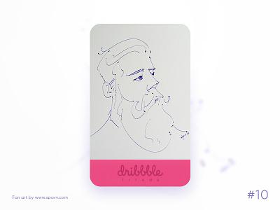 Dribbble Titans 10/31 avatar design avatar inks pen sketchbook process spovv illustration sketch characterdesign fun drawing character