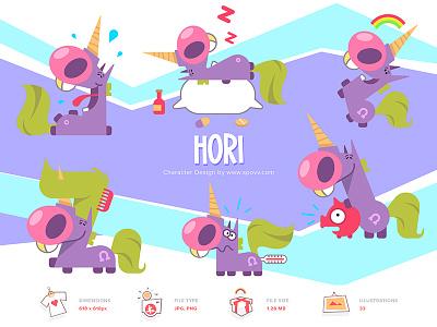 Shopy sticker design stickers sticker kids violet pink inicorns unicorn coloring cartoon spovv illustration characterdesign fun character