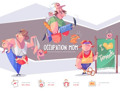 Shopy moments kids kid overtime job work occupation mothers day motherhood mothersday mama mother mom cartoon spovv illustration characterdesign fun character