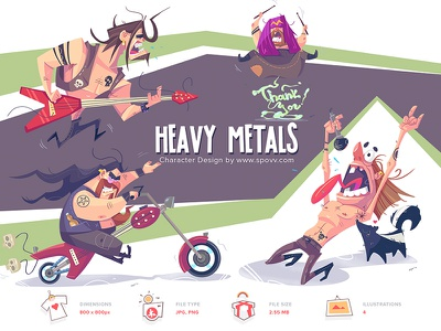 Shopy store shop crazy music heavy metal heavymetal heavy coloring cartoon spovv illustration characterdesign fun character