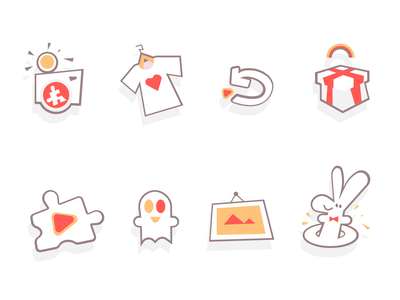 Fun Game Icons shape illustration fun icons icons pack game icons icons spovv design