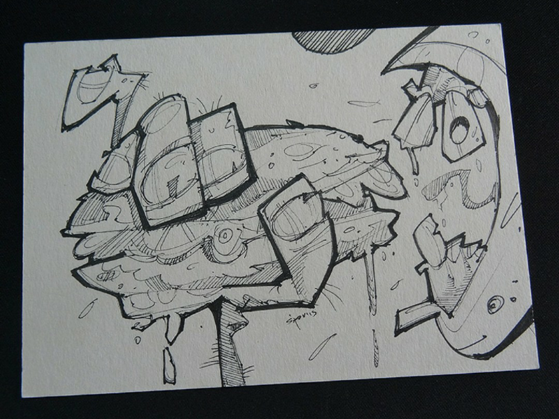Burger ad ink drawing draw sketch spovv ad burger