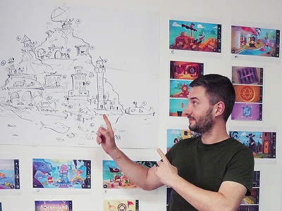 A new game on the horizon! island adventure game adventure level design gameapp game design game design cartoon process spovv sketch illustration drawing characterdesign fun character