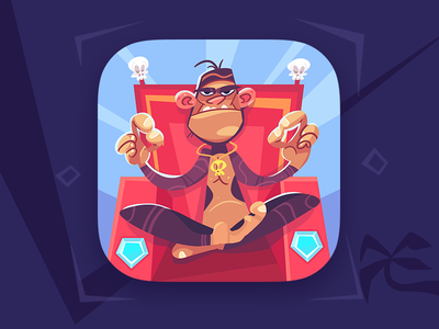 Escape Funky Island funky island adventure game icon game monkey coloring cartoon process spovv illustration characterdesign fun character