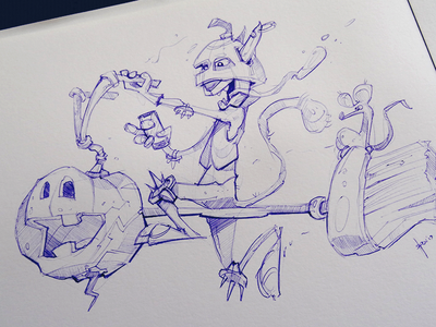 Halloween Sketch sktech process cartoon pen sketchbook character fun characterdesign illustration spovv drawing halloween