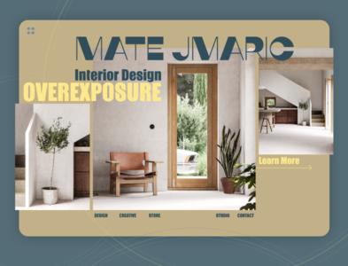 Web-design for interior design Studio figmadesign figma landing page landing dailyuichallenge dailyui typography ux ui minimal web design