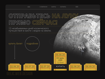 website for selling a ticket to space xd figma landing dailyuichallenge website dailyui ui ux minimal illustraion vector web design