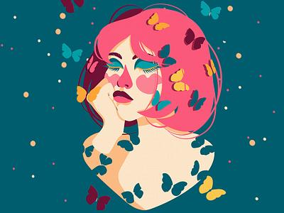 Butterfly illustraion искусство дизайнер дизайн логотипа дизайн branding illustrator website app typography vector logo illustration