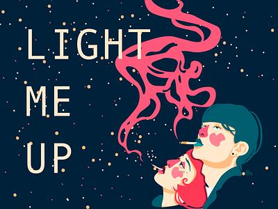 Light me up logo typography vector design illustrator illustraion