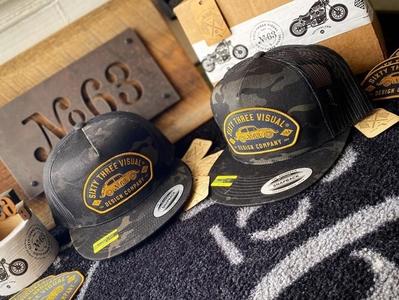 Beetle Mania Snap Back camo badge patch hat apparel design branding logo