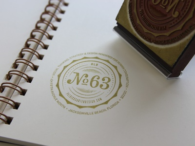 Old Number 63 Stamp stamp gold ink rubber personal branding numbers