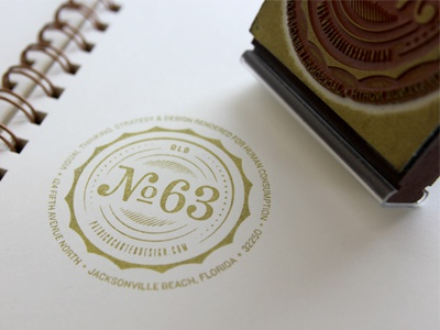 Old Number 63 Stamp By Patrick Carter On Dribbble
