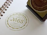 Old Number 63 Stamp