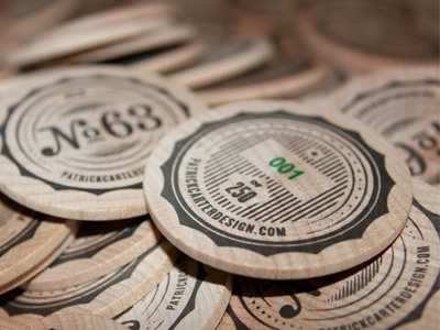 Limited Edition Wood Coins wood coin limited promo