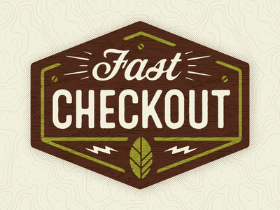 Fast Checkout Retail Sign