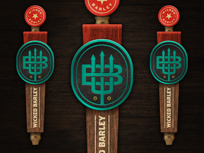 Brewery Tap Handle Design jacksonville restaurant iron metal wood logo branding handle tap beer brewery
