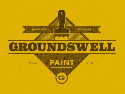 Paint Logo Design retro old fashioned quality paint logo design badge crest yellow type