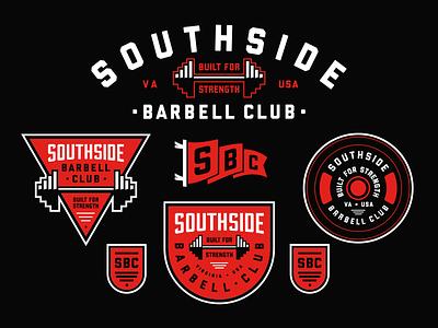 Gym Logo Design Package strength fitness badge gym typography design branding logo