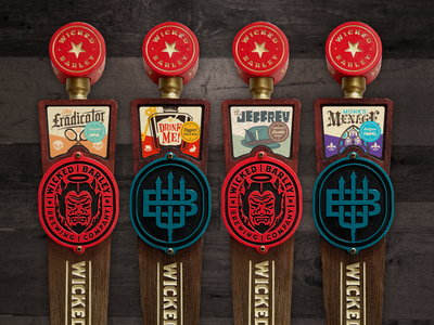 Tap Handle Design florida badge branding logo package illustration tap handle brewery beer