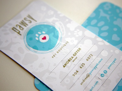 Pet business card by patrick carter dribbble pet company business card logo colourmoves