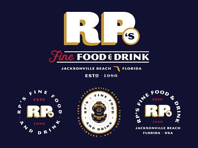 Restaurant Brand Package florida typography print type identity coastal beverage food restaurant signage menu branding logo