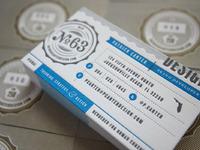 Letterpresss business cards large